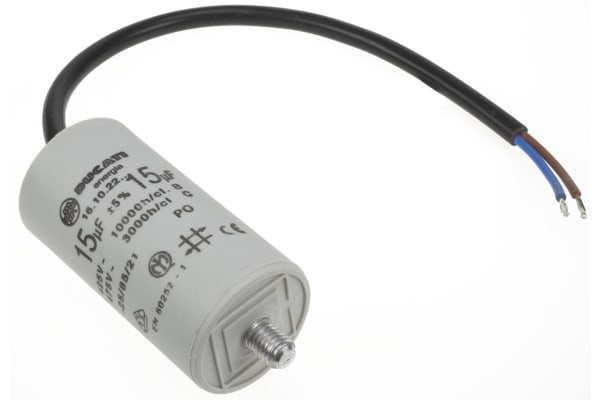 Product image for 41610/15 CABLE END MOTOR CAP,15UF 450V