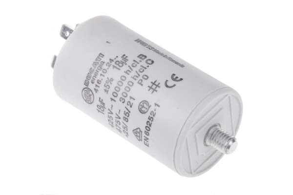 Product image for Ducati Energia 18μF Polypropylene Capacitor PP 450V ac ±5% Tolerance Stud Mount 4.16.10 Series