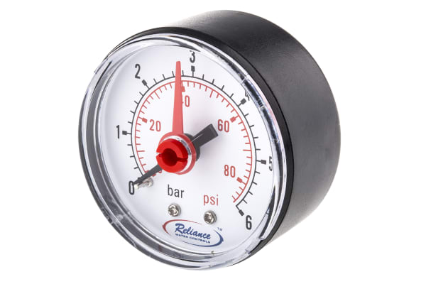 Product image for Pressure gauge,0 - 6bar 1/4in BSPT M