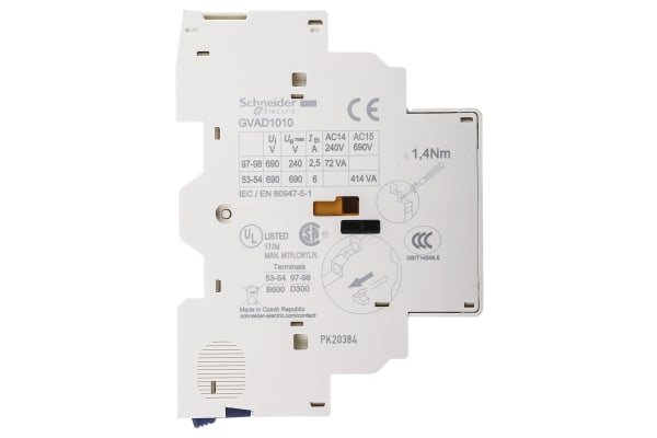 Product image for 1 NO 1 NO fault signal auxiliary contact
