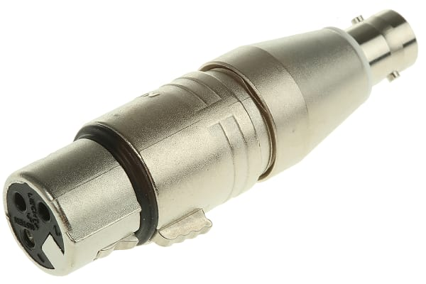 Product image for XLR FEMALE TO BNC SOCKET ADAPTOR