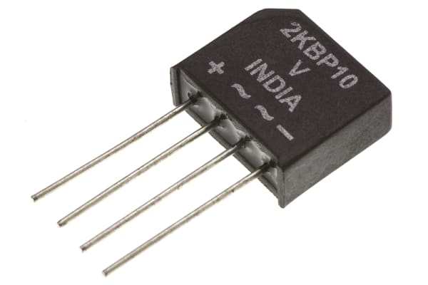 Product image for BRIDGE RECTIFIER DIODE 100V 2A