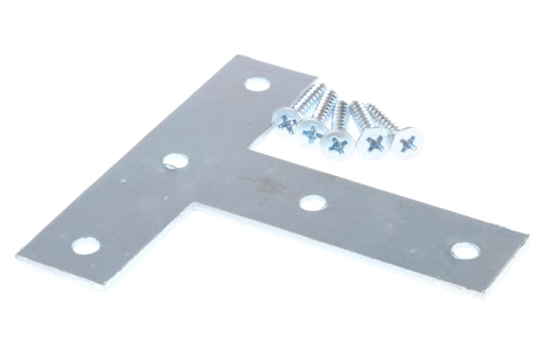 Product image for Zinc plated steel T shape flat bracket