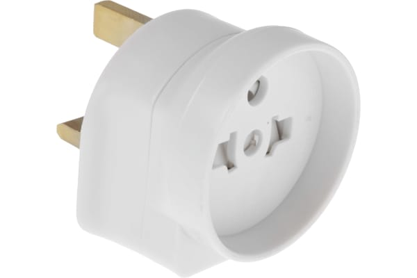 Product image for RS PRO UK to Europe Travel Adapter, Rated At 13A