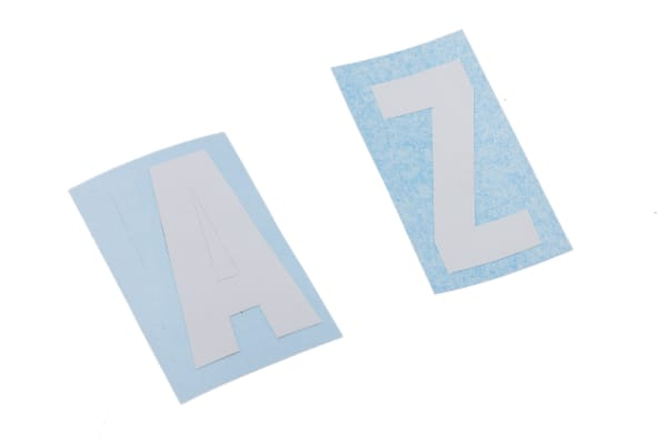 Product image for White die cut label,30mm high letters