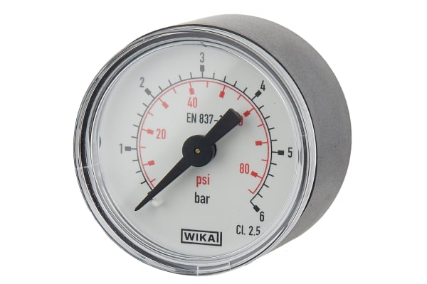 Product image for Pressure gauge,40mm dia 0-6bar R1/8
