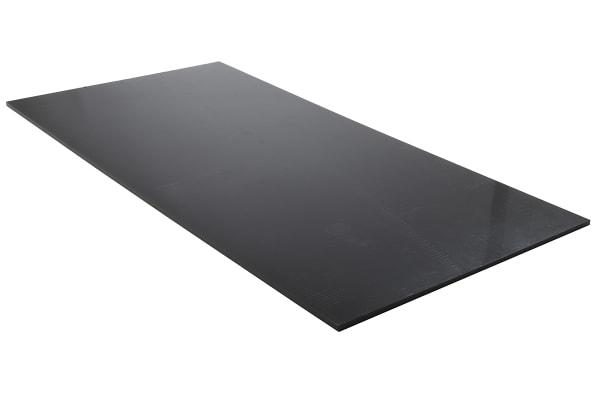 Product image for Black polyethylene sheet,1000x500x8mm