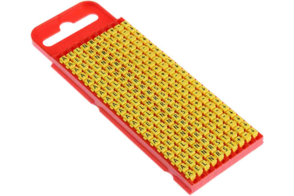 Product image for Clip on cable marker,size 1 letter set-1