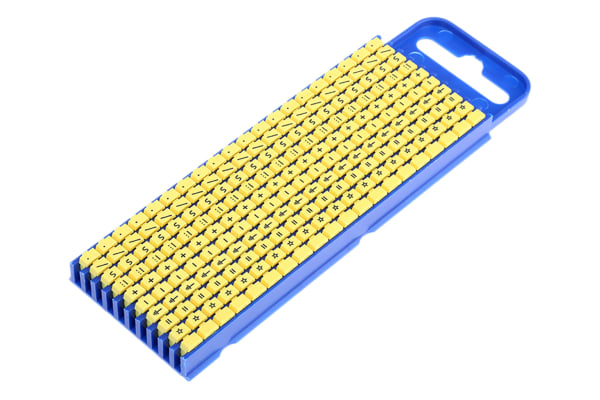 Product image for Clip on cable marker,size 2 10 sign set