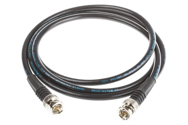 Product image for BNC plug to plug cable,75 Ohm,RG-59,1.5m