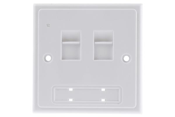 Product image for 2xRJ45 unshielded skt bulkpack faceplate