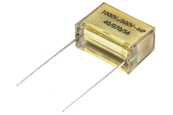 Product image for Paper PCB mount cap,100nF 500Vac;1kVdc