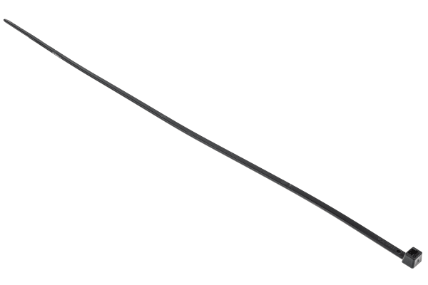 Product image for Black Nylon 6.6 Cable Tie, 270x4.8mm