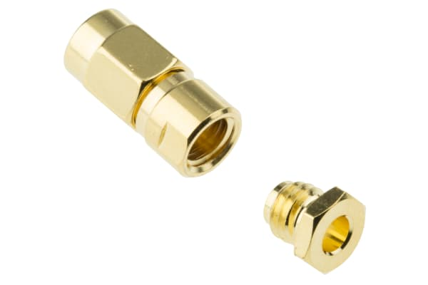 Product image for SMC RF plug, solder, 50ohm, RG174,RG-188