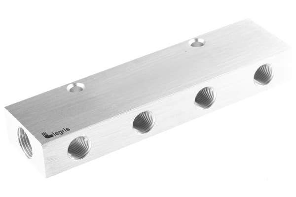 Product image for 4 outlet double sided manifold,G3/8 G1/4