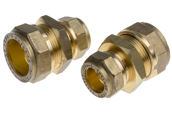 Product image for Copper straight coupling,22x15mm comp