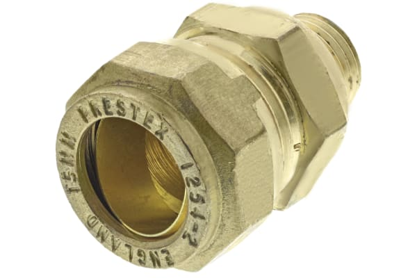 Product image for Straight coupling,15mm compx1/4in BSPP M