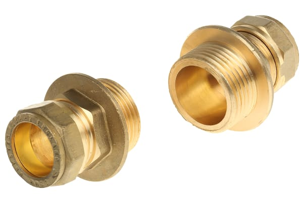 Product image for Straight coupling,22mm compx1in BSPP M