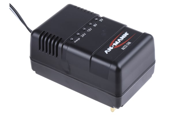Product image for Ansmann ALCS 2-24A Lead Acid 2V 900mA Battery Charger with UKplug