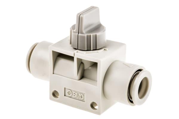 Product image for 10mm 2/2 finger valve w/grey knob