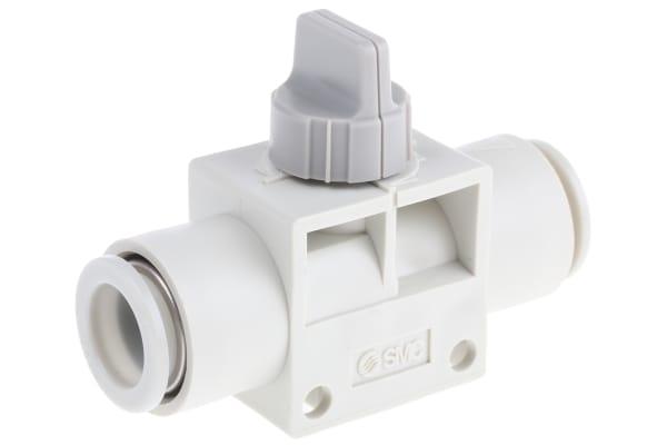 Product image for 12mm 2/2 finger valve w/grey knob