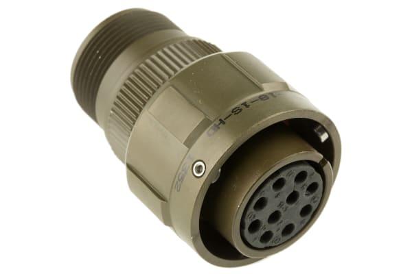 Product image for 10 way bayonet lock cable socket,18-1