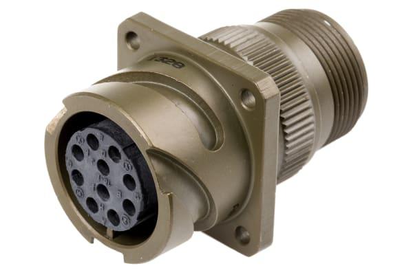 Product image for 10 way bayonet lock chassis socket,18-1