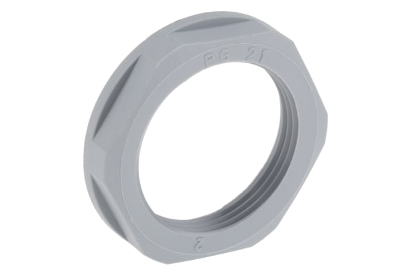 Product image for Locknut, nylon, grey, PG21, IP68