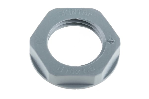 Product image for Locknut, nylon, grey, M16, IP68