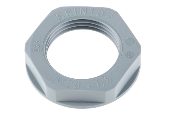 Product image for Locknut, nylon, grey, M20, IP68