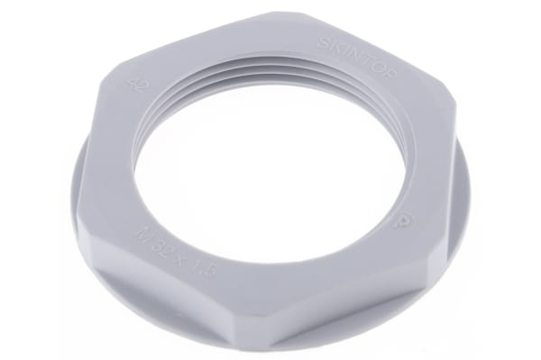Product image for Locknut, nylon, grey, M32, IP68