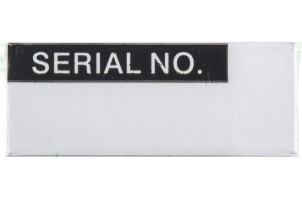 Product image for Blk writeon metallised label 'SERIAL NO'