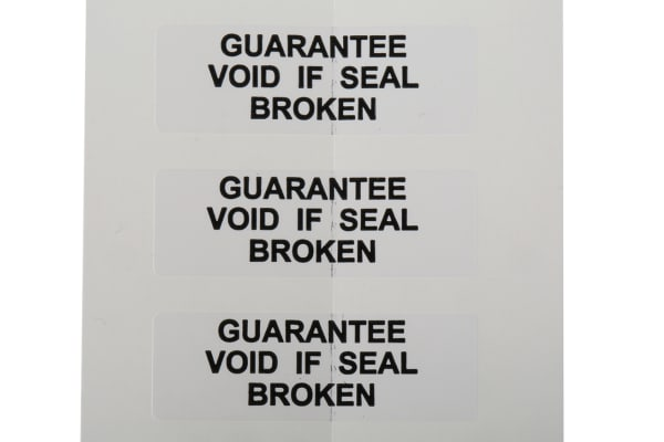 Product image for SAV label 'GUARANTEE.BROKEN',38x12.7mm