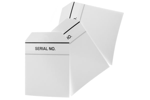 Product image for Equipment tag 'SERIAL NO',60x70mm