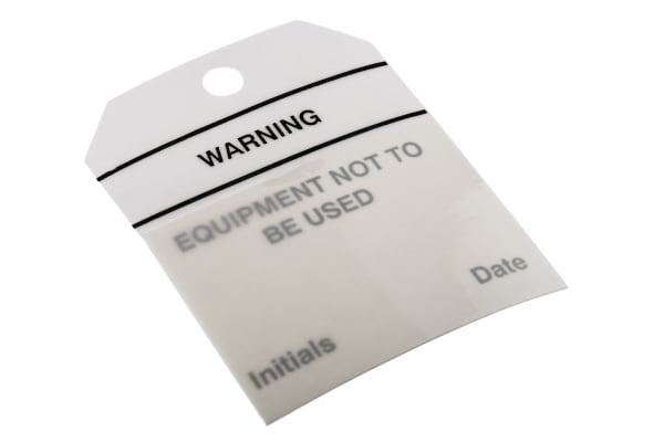 Product image for Equipment tag 'EQUIPMENT NOT TO BE USED'