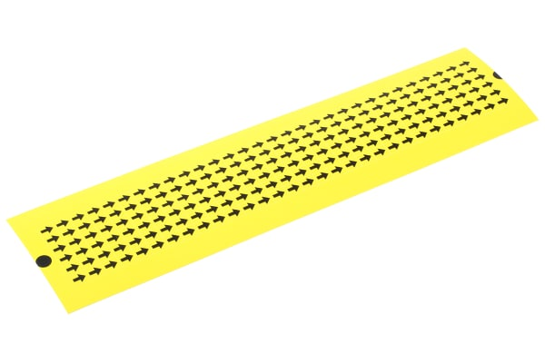 Product image for Black on yel inspection arrow,7.6x6.4mm