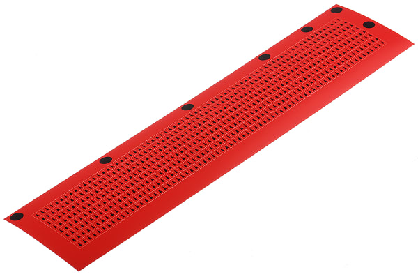 Product image for Black on red inspection arrow,3.2x4.7mm