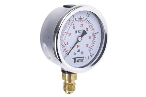 Product image for 63MM PRESSURE GAUGE 0 - 2.5BAR
