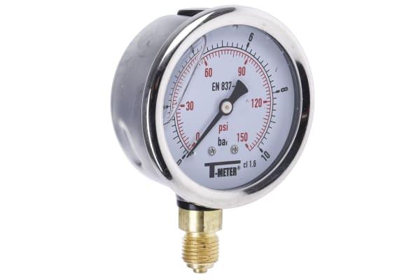 Product image for 63MM PRESSURE GAUGE  0 - 10BAR