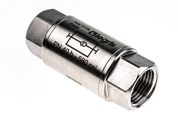 Product image for S/STEEL NON-RETURN VALVE,1/2IN F-F BSP