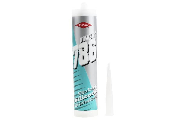 Product image for CLEAR 786 ACETOXY SILICONE SEALANT,310ML