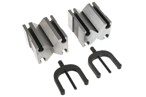 Product image for Chrome steel V block & clamp,1 1/2in