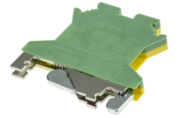 Product image for DIN rail contact earth terminal,2.5sq.mm