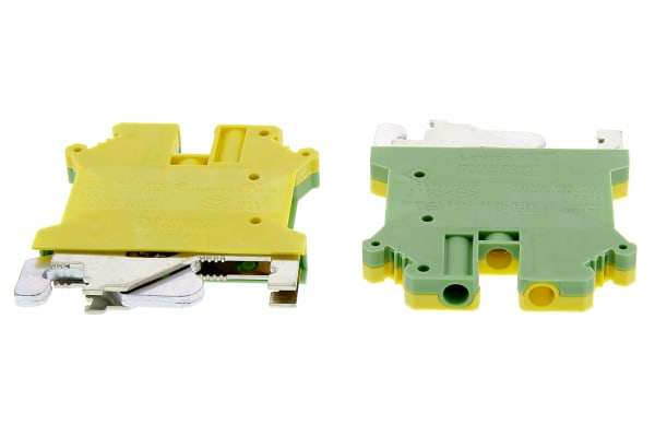 Product image for DIN rail contact earth terminal,4sq.mm