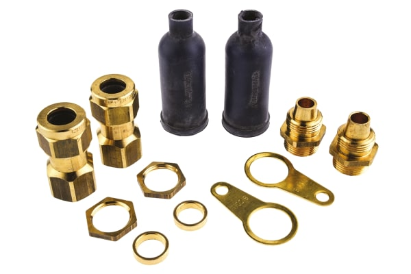 Product image for CW ARMOURED LSF 2 GLAND KIT, M20, 13.2MM
