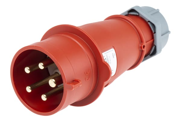 Product image for MENNEKES, AM-TOP IP44 Red Cable Mount 5P Industrial Power Plug, Rated At 32.0A, 400 V