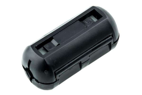 Product image for Fair-Rite Openable Ferrite Sleeve, 17.3 x 8.4 x 36.2mm, For EMI Suppression, Apertures: 1, Diameter 5.1mm