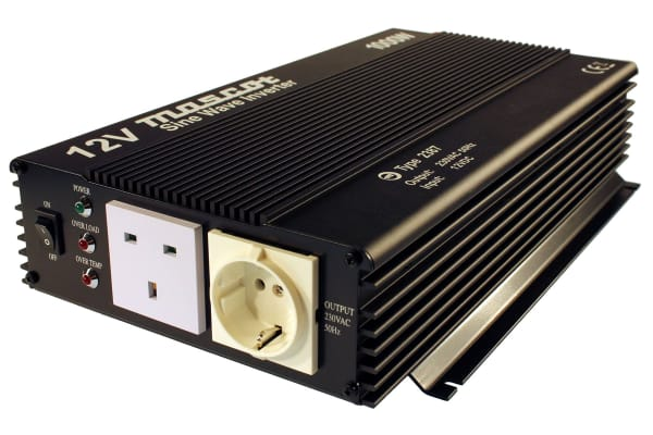 Product image for 1000W DC-AC Car Power Inverter, 10 → 15V dc / 230V ac