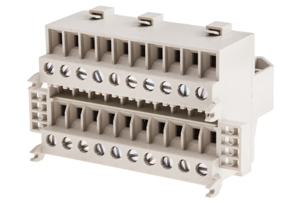 Product image for 10 way DIN rail standard feedthrough kit