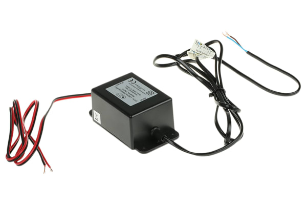 Product image for BLACK ABS CCTV POWER SUPPLY,24VAC 0.75A